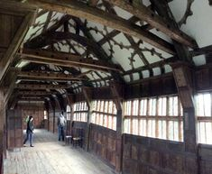 The Great Hall at Little Moreton Hall, Cheshire; from a travel blog by www.traveljunkiegirl.com