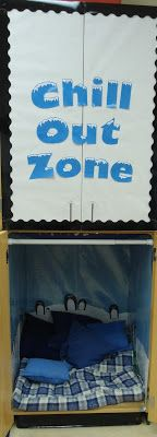 Chill out zone, penguin themed classroom break area  http://missminorsmunchkins.blogspot.com/2012/09/chill-out-zone.html