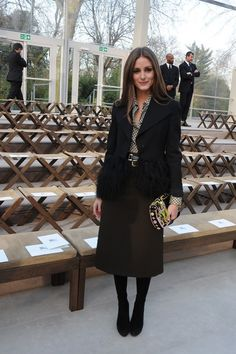 Olivia Palermo at Burberry Prorsum, Fall 2013