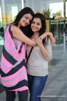 Kajal Aggarwal and Nisha Aggarwal | Veethi