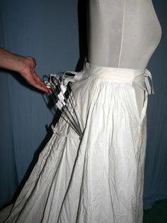 RECREATION  House of Canney  Historic Recreations- 1800's  Mid 1870's Petticoat with (attached) collapsible Bustle
