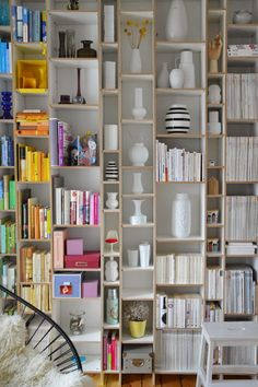 32 Stylish Bookshelf Design Ideas That Have An Essential Furniture In Your Home - Bookshelf furniture pieces are very interesting. Their main function, to store and keep books, is a simple yet very important one. Most people think t. Diy Bookshelf Wall, Bookshelf Design, Wall Shelves, Diy Bookcases, Book Shelves, New Swedish Design, Diy Regal, Modern Shelving, Home Libraries