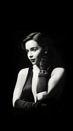Emilia Clarke Dark Model Film Actress Holly #iPhone #6 #plus #wallpaper