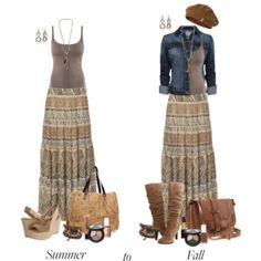 Summer to Fall: Maxi Skirts