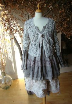 lace sweater... Romantic Clothing, Romantic Outfit, Lace Ruffle, Ruffles, Ruffle Blouse, Lace Sweater, Mori Girl, Dress Ideas, Armoire