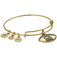 Alex and Ani NFL Green Bay Packers Football Bangle Charms Bracelet ($32) ❤ liked on Polyvore featuring jewelry, bracelets, adjustable bangle, bangle charms, adjustable bangle bracelet, alex and ani charms and bracelets & bangles