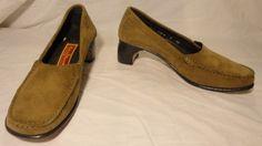 Cole Haan City Tan Suede Heeled Loafers Size 7 http://www.ebay.com/itm/370935601035?ssPageName=STRK:MESELX:IT&_trksid=p3984.m1555.l2649