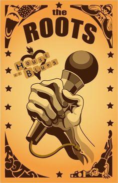 Fernando Creative Design: Roots: hip hop band poster illustration design