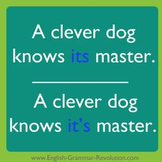 Punctuation | The difference an apostrophe makes Clever Dog, Grammar School, Modern History, English Class, Secondary School, Punctuation, 21st Century, Vocabulary, Writing
