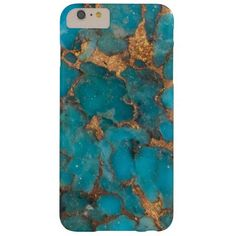 """Turquoise Stone Background Barely There iPhone 6 Plus Case"" gold zazzle case marble"