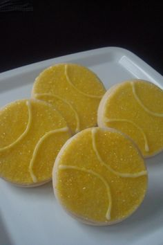 Tennis Ball Shortbread Cookies 1 Dozen by StoneHouseOven on Etsy
