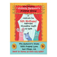 ==>>Big Save on          Puppet Show Party Invitation           Puppet Show Party Invitation We have the best promotion for you and if you are interested in the related item or need more information reviews from the x customer who are own of them before please follow the link to see fully revi...Cleck Hot Deals >>> http://www.zazzle.com/puppet_show_party_invitation-161883635013319706?rf=238627982471231924&zbar=1&tc=terrest