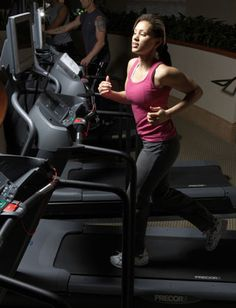 Interesting.........treadmill intervals to burn belly fat - totally doable...highest speed is 7 mph.