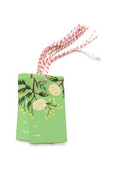 PACK OF TEN EMERALD PEONY GIFT TAGS - RIFLE PAPER
