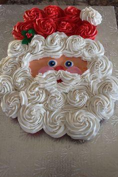 Default - santa claus cupcake cake