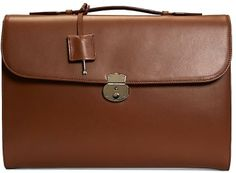 Brooks Brothers Classic Leather Briefcase on shopstyle.com
