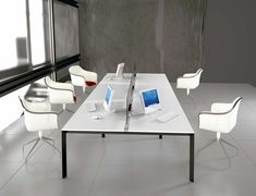 Brilliant White Office Furniture For Clean And Modern Atmosphere Office And…
