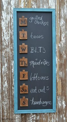This cute menu board is an easy DIY project that will help you get organized and add a touch of fun to your home decor. A double win!