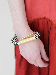 Rope + Gold Bracelet