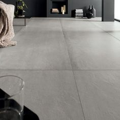 Prima Materia - Kronos Ceramiche - Floor coverings in porcelain stoneware. Cosy House, Concrete Texture, Home Ceiling, Front Rooms, Grey Flooring, Ceiling Design, Tile Design, Interior Design Inspiration, Tile Floor