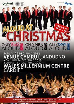 Aloud at Christmas with Men, Boys & Kids Llandudno & Cardiff. #OBA