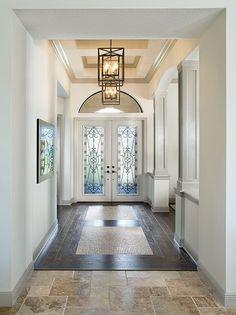 Sienna Foyer Ravello Treasure Coast Luxury Custom Home