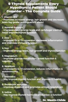 complete thyroid supplements guide pinterest