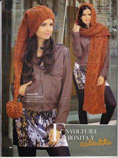 Laura Nº15 (Moda de Punto) Cowls, Scarves, Knit Fashion, Knitting Charts, Ponchos, Urban, Journals, Tejidos