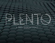 "Check out new work on my @Behance portfolio: ""PLENTO - Free typeface"" http://be.net/gallery/37385151/PLENTO-Free-typeface"