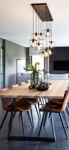 home interiors NL - Expolore the best and the special ideas about Dining room design Dining Room Table Decor, Dining Room Design, Dinning Table Rustic, Modern Dining Table, Room Interior, Home Interior Design, Kitchen Interior, Home Design, Home Living Room