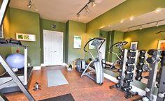 home gym - flooring & walls. May need a pull up bar & box