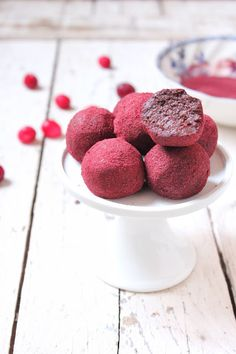 Vegan Cranberry Chocolate Truffles