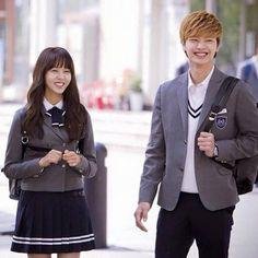 School 2015 Who Are You + cute couple! Who Are You School 2015, Korean Drama List, Sungjae Btob, Kim Sohyun, Drama School, Korean Couple, Boys Over Flowers, Yongin, Drama Korea