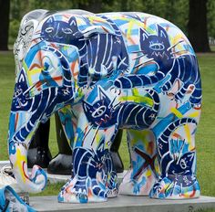 Elephant parade 2011 Copenhagen   to preserve baby elephants in Asia