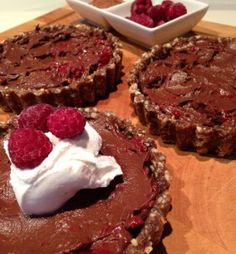 Ashy bines approved - Raw Chocolate and Raspberry Mousse Tart