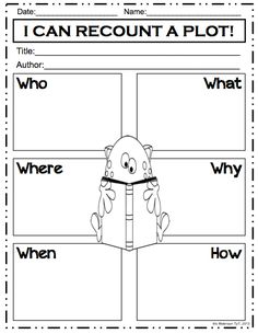 Graphic Organizers Bundle! Five W's and How. Recounting a plot. Can be used with any story!