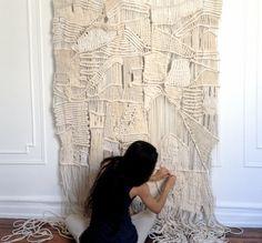 Fiber Art - Modern Textile - Macrame - Weaving