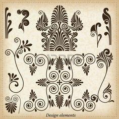 Old greek ornaments Vector illustration  Stock Vector