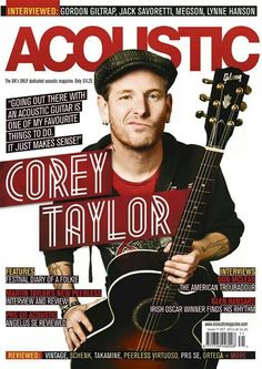 Corey Taylor on the cover of Acoustic How You Remind Me, Taylor Stone, Slipknot Corey Taylor, Acoustic Covers, Oscar Winners, Music Magazines, Alternative Music, Band Posters, Cover Photos