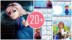 Which one frozen printable monthly calendar is you favorite in 2015 New Year?