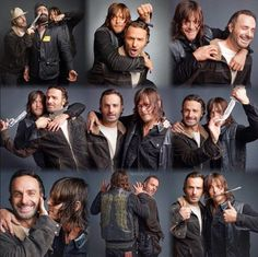Norman Reedus and Andrew Lincoln Photoshoot #Bromance #Rickyl