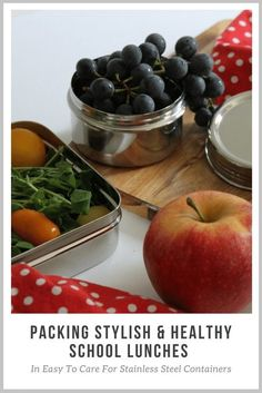 easy to care for stainless steel containers