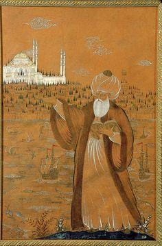 Mimar Sinan: a truly Genius. Albanian architect in Ottoman Empire Islamic World, Islamic Art, History Of India, Book Of Kells, Turkish Art, Historical Art, Arabian Nights, Ottoman Empire, Painting Lessons