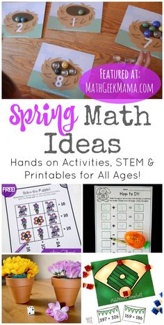 50+ Spring Math Ideas for Grades K-8