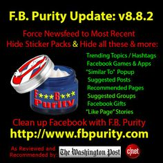 F.B. Purity is a browser extension that customises and cleans up facebook from all the application spam and other extraneous information that you dont want to see