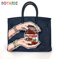 Hand Painted Pop Art By Boyarde Messenger Louisvuitton Libertylondon Hermes Birkin
