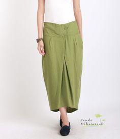 Bud whisper/long skirt/bud shape/ linen/custom by pandaandshamrock