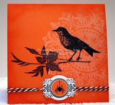 Stampin' Up! Papaya Collage, Medallion, and Out On A Limb stamp sets for handmade Halloween card