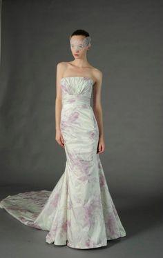 Vestidos de novia 2013 estampado de flores rosas - Douglas Hannant