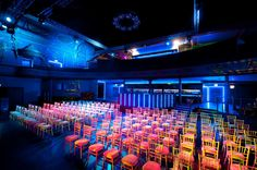 Not your average conference venue... colour and style at Electric Brixton: https://hirespace.com/Spaces/London/7936/Electric-Brixton/The-Main-Room-and-Mezzanine/Events